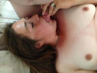 My lovely woman sucking my cock getting me ready to pleasure her tight pussy with my cock,  who wants some?