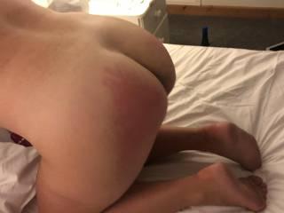 My wife really enjoyed having her arse slapped hard