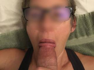 Another amazing BJ from Hothello. Maybe if you ever run into her you would get the chance to have your cock in her mouth. Look at the way she sucks the tip.