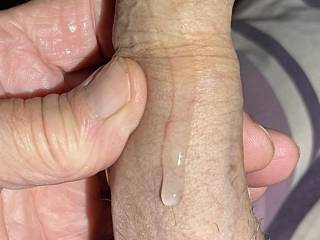 How would you clean my cock with my sperm running down my shaft