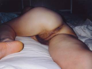 let me fuck that sexy hairy pussy from behind.
