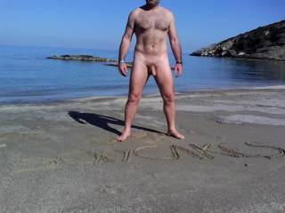 Fuck me right there next to the water pounding your cock relentlessly into my pussy my ass pressed hard against the cool sand