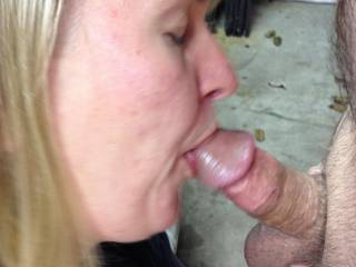 Hubby was working out in the garage and I wanted to suck his dick soooo bad.