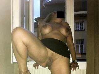 Hotel window evening:)