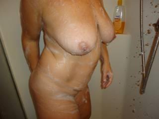 MILF Wifes Big Soapy Tits