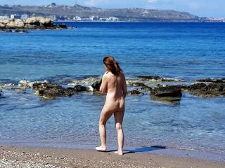 1st time naked at the beach for this summer