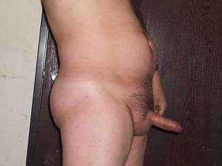 Nice looking cock sticking out.
