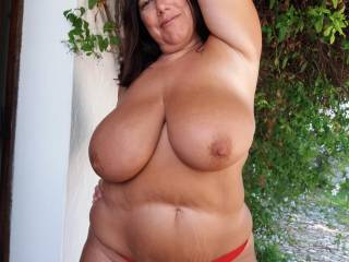 showing my big tits to all my neighbours