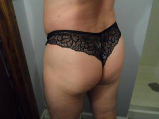 How does my butt look in this sexy black thong?