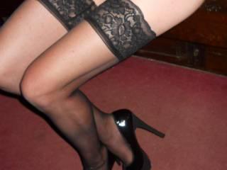 a request for heels, bonus stockings, lol. like?