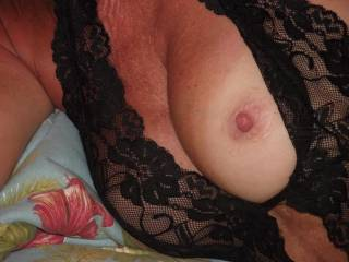 Lovely breast...may I suck it?..mmmm