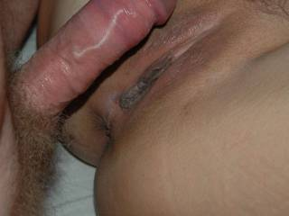 Great pic. Lovely smooth pussy with a nice size cock ready to fill it