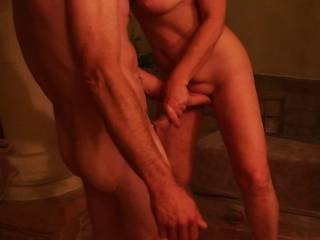 Hot. Love to be fingered like that while I feel the warmth of a stiffening cock in my hands...