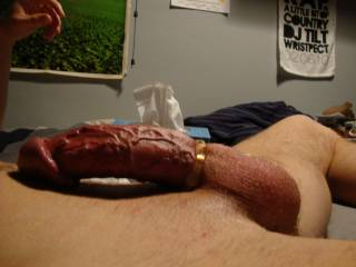 outstanding I so love a cock in a tight cock ring.