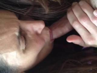 Wife sucking my dick until I cum in her mouth. Is she good or what?