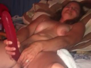 A guy I fucked behind Hubby's back wanted to watch me fuck myself before he gave me a hard fucking