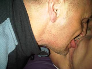 licking her wetNjuicy pussy