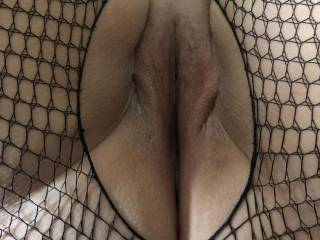 Freshly shaved pussy ready to take someone in...