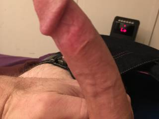 this is my dick, shaved and from the side. it's 7 inches hard. Do you like it?