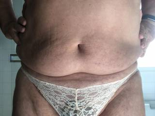 Wearing my cock cage and my panties today.  Maybe this would be a good day to go shopping for more panties.