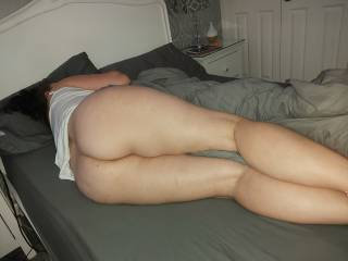 Like a big cock stranger to slide in behind her and fuck her cum inside that pussy and leave