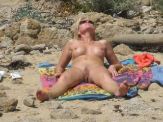 She loves letting guys check her out at the beach