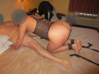 The last guy wanted his dick sucked before he fucked her...didn\'t want it to end too fast