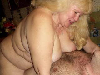 See how this widow sits on my cock with what pleasure. The photo shows how happy she is, while my cock penetrates deep into her big hairy pussy.See how much emotion is on her face. I love watching the elderly when I fuck them