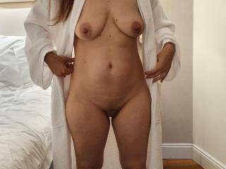 Hubby just finished trimming my pubic hair... I\'m wondering what he\'s planning for next 🤔