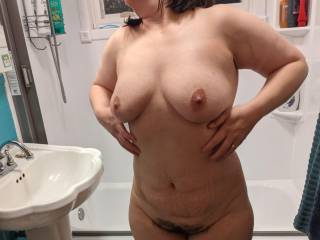 Cuck's wife getting ready for a shower