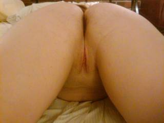 nice shaved pussy ass up