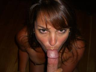 you are so pretty and your eyes are so wonderful and so great with his cock in your mouth, a nice cock perfect for your mouth