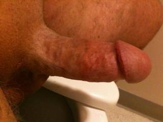 Pic of my hard cock sent to my beautiful wife at work