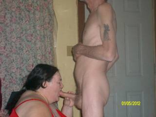 I think she should poke her ass up in the air I could shove my cock up her hot cunt and fuck her as she sucks you take pics as we take fuck her then give her a good spunk bath