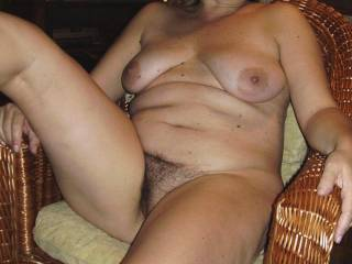 Gorgeous, love to lick that hairy pussy before spunking all over your pubes and belly.