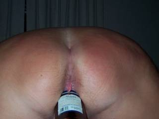Playing with beer bottle