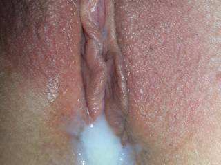 Such a hot pussy so sexy filled with cum...has me wanting to go next for the most amazing sloppy messy seconds ever, the wet sounds of my pulsating cock thrusting deep into her juicy wet creamy pussy as she orgasms all over gushing the mess as I unload firing a massive creampie filling her pussy with yet more cum!   Will you help me eating out her double cum filled pussy to another orgasm for her....