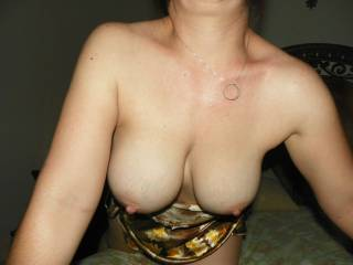 Your tits look beautiful I'd love to play with them mmm
