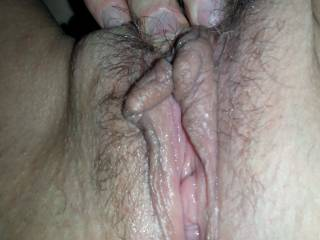 Your pussy looks very wet and ready to be penetrated. I'd love to feel your beautiful pussy lips griping my fat cock. Wud you enjoy that?