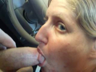 She sucked on my head to get him rock hard before I fucked her in the Caddy...