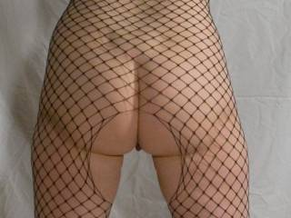 I found this shot that was never posted. Fishnet butt!