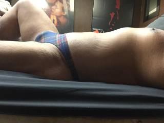 Plaid bikini bulge