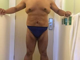 My hotel room blue thong