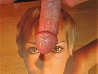 About to stroke my hard cock to jonssong's pretty face and tasty tits!