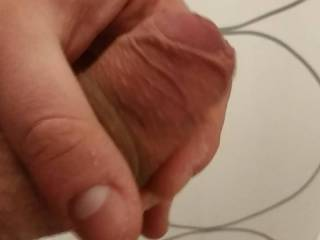 Got a request to film my balls swinging a little while I jerk it off, and also to see how my cum drips out of my thick cock. So here it goes, slow cumshot just to show how much cum comes out. Let me know if you want to see more