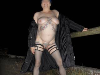 Hi all just me doing a little flashing on yet another cold windy night dirty comments welcome mature couple
