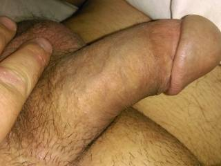 And here is the second post morning fuck photo for the lady next door. She was happy with the two cock photos but still wanted the cumshot sequence next. Even though she had a load in her mouth just half an hour before...keep looking for happy ending.