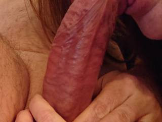 Wife sucking my cock, she is an expert xxxxx and she luv that