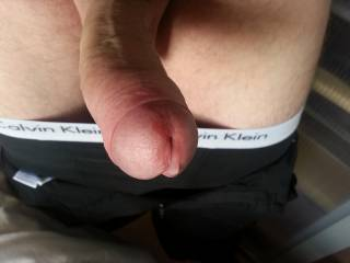 Who wants to lick up that little drop of precum?