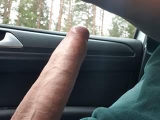 Horny in my car.